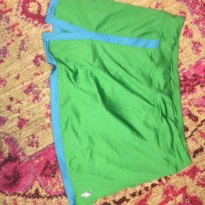 U.S. Polo Assn. green & blue tennis skort. NWOT